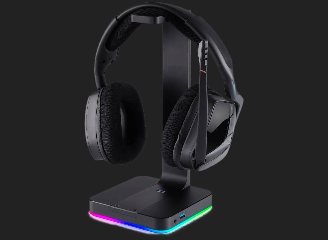 Gaming Headset mit Headset Halter