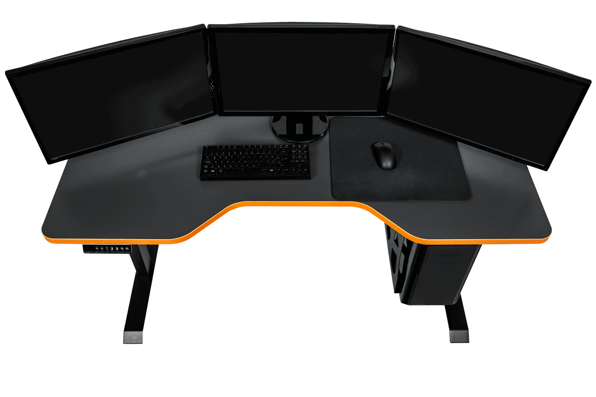 LeetDesk Cutout with Cockpit Feel and ergonomic design for gamers