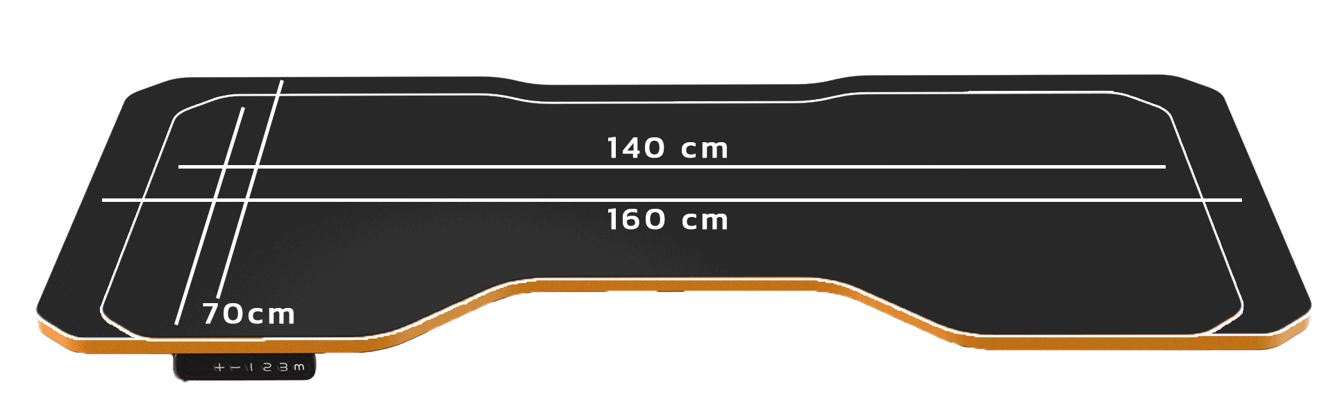 LeetDesk Gaming Table sizes compared
