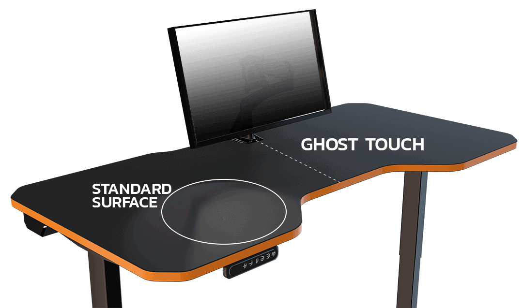 choose leetdesk gaming pc desk surface with ghost touch anti fingerprint