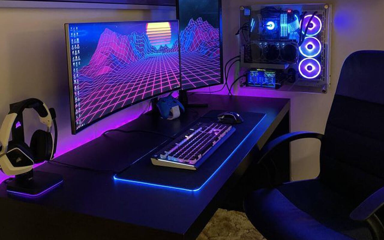 Synthwave Style Gaming Tisch