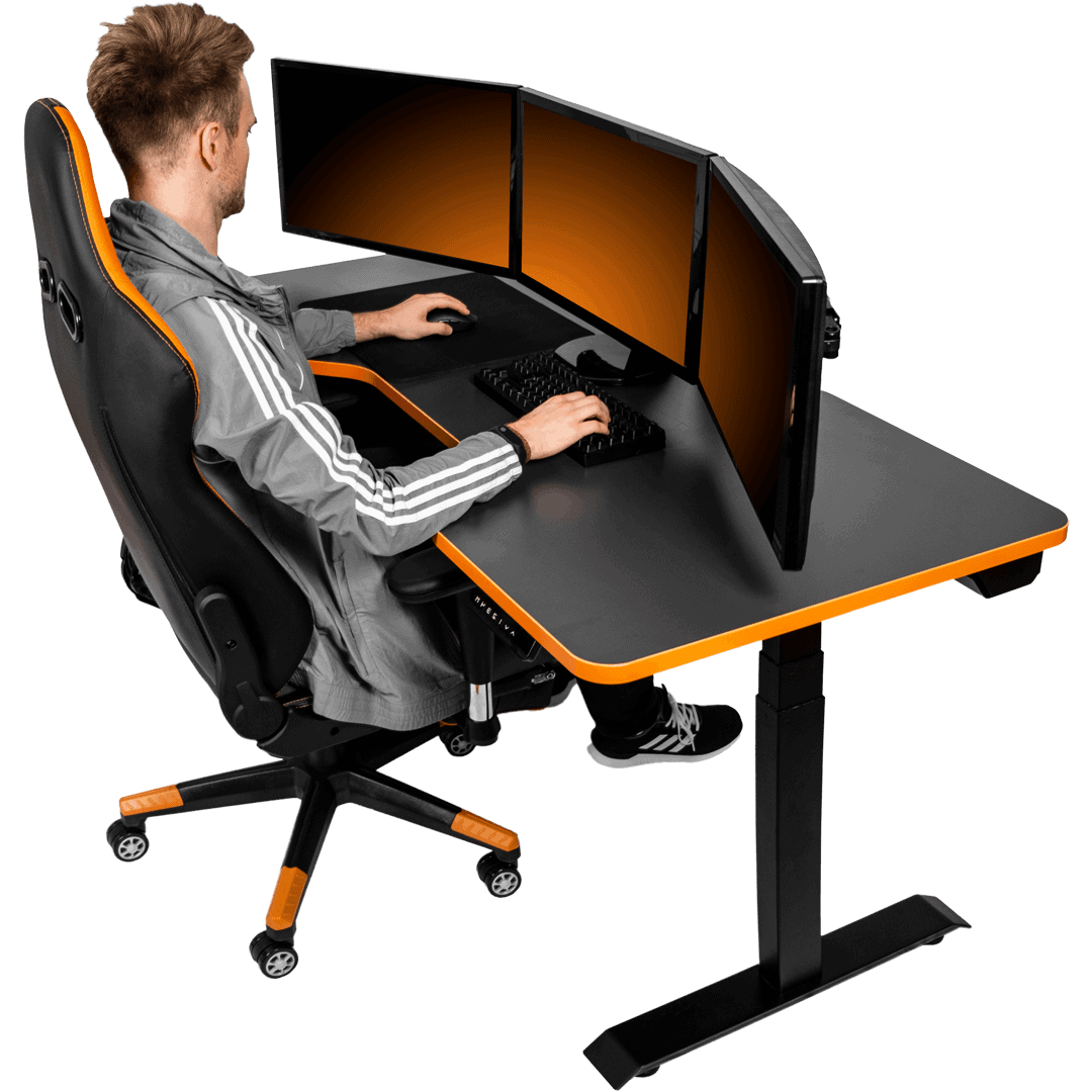 PC Gaming Desk - Height Adjustable and customizable