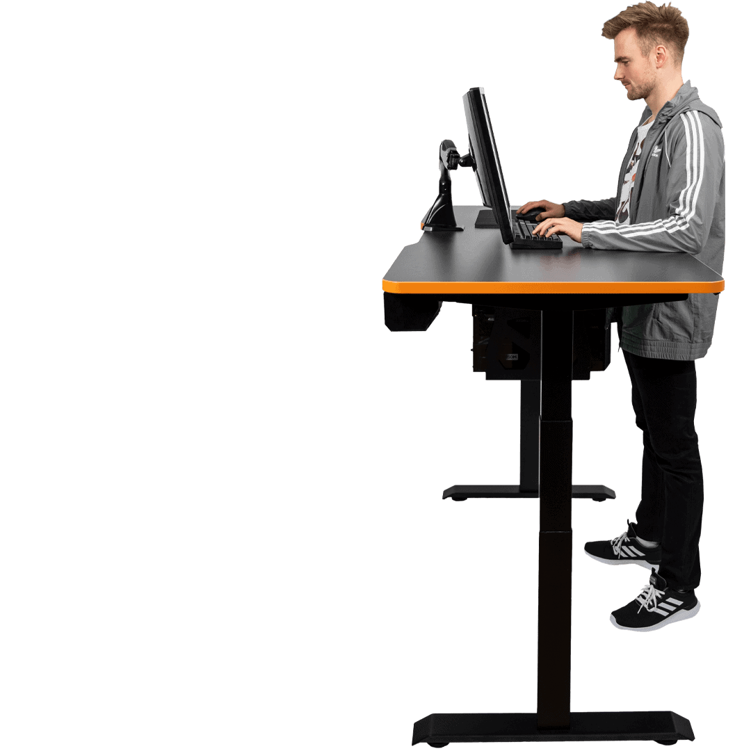 Standing Gaming Desk - Play sitting or standing - Adjust it to your personal height