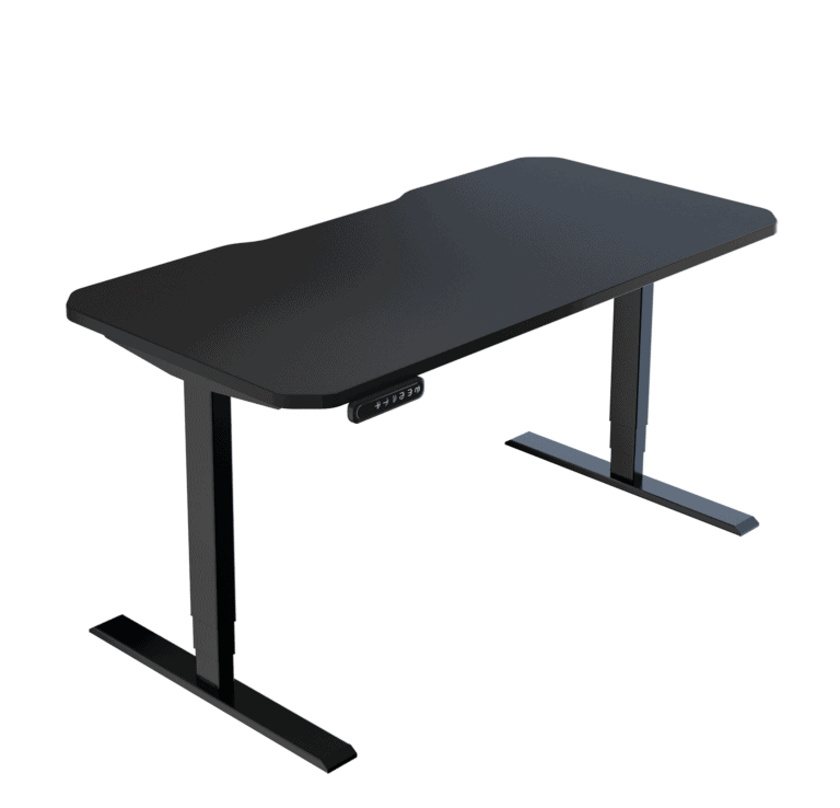 LeetDesk | Style: Classic | Size: 140x70cm | Color: Shadow Black | Surface: Ghost Touch