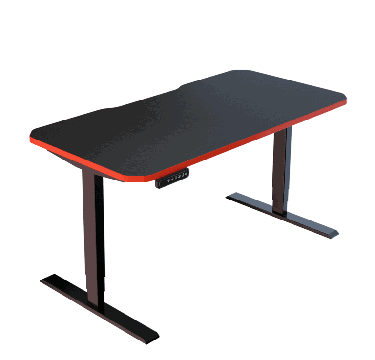 LeetDesk | Style: Classic | Size: 140x70cm | Color: Crosshair Red | Surface: Ghost Touch