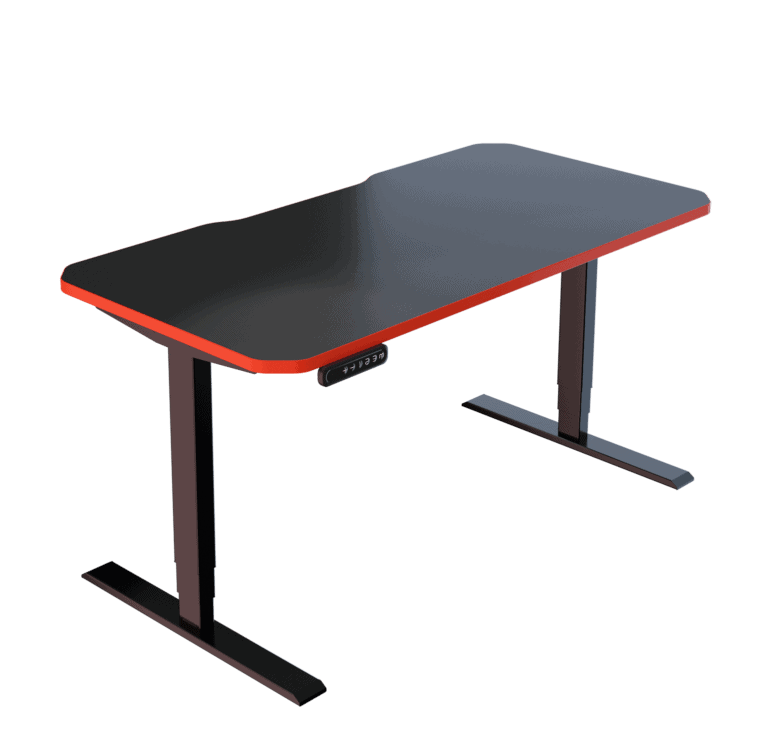 LeetDesk | Style: Classic | Size: 140x70cm | Color: Crosshair Red | Surface: Standard
