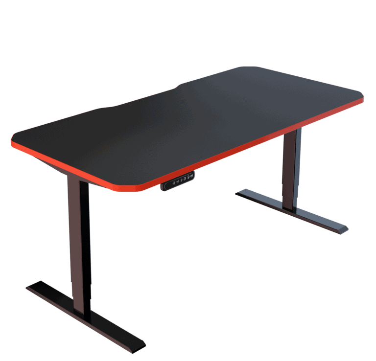 LeetDesk | Style: Classic | Size: 160x80cm | Color: Crosshair Red | Surface: Ghost Touch