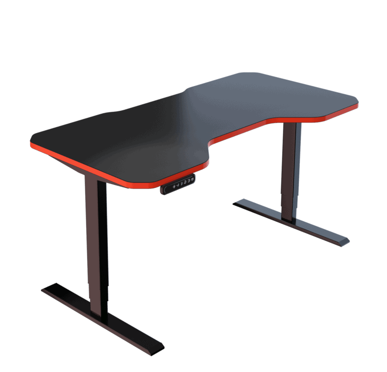 LeetDesk | Style: Pro | Size: 140x70cm | Color: Crosshair Red | Surface: Standard