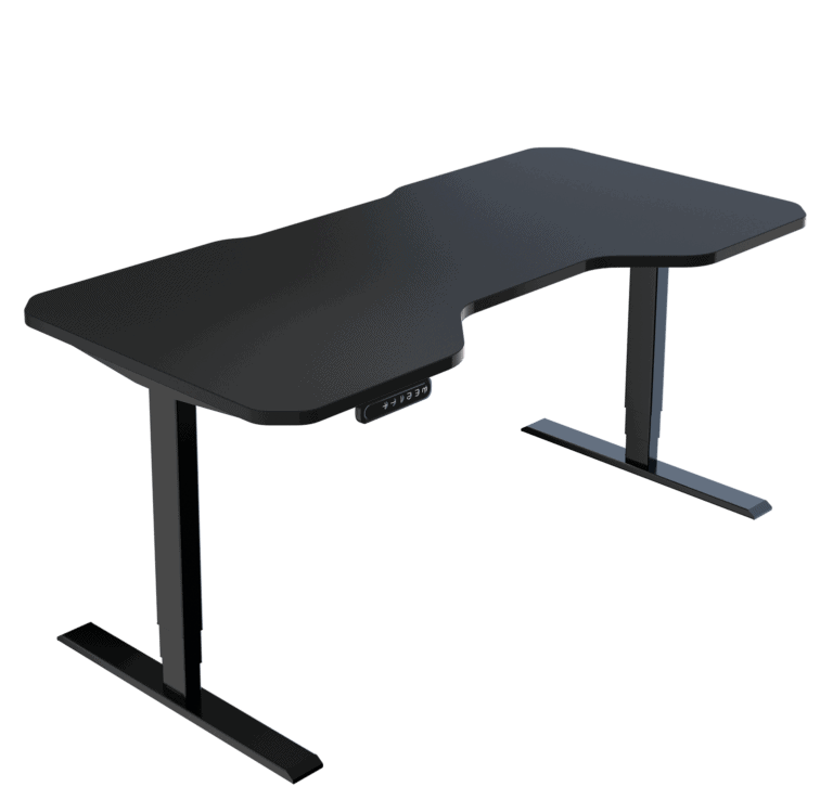 LeetDesk | Style: Pro | Size: 160x80cm | Color: Shadow Black | Surface: Ghost Touch