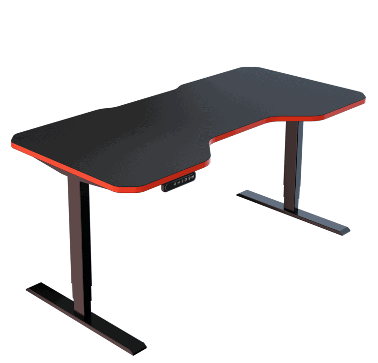 LeetDesk | Style: Pro | Size: 160x80cm | Color: Crosshair Red | Surface: Ghost Touch