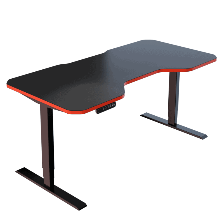 LeetDesk | Style: Pro | Size: 160x80cm | Color: Crosshair Red | Surface: Standard