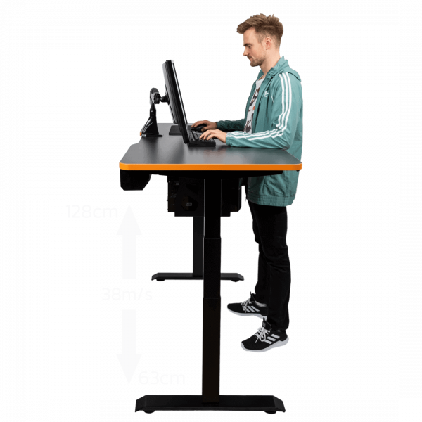 LeetDesk Height Adjustable Desk for Gaming Standing