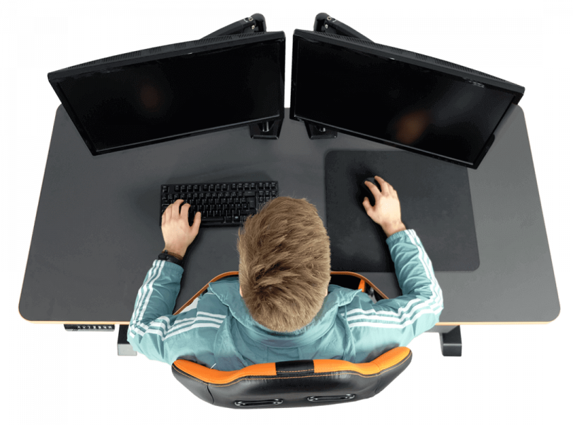 LeetDesk Ergonomic Gaming Desk Height Adjustable Healthy Performance